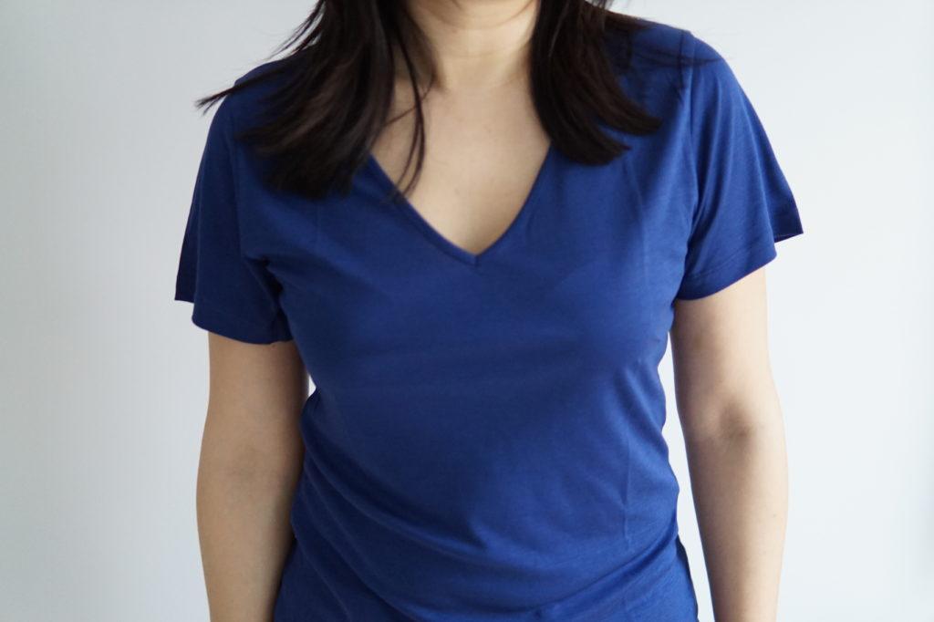 Top Adèle de Justine Leconte en bleu